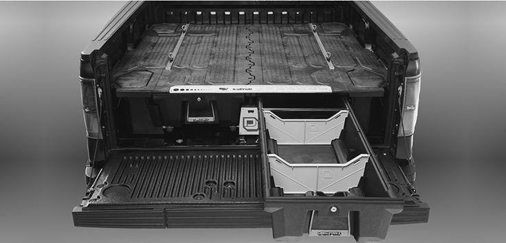 Saw It Liked It: Now, this is sweet—the Decker pickup bed organizer lets you stash your stuff safely, securely, bombproofly. http://www.adventure-journal.com/2014/03/saw-it-liked-it-decked-pickup-truck-bed-organizer/