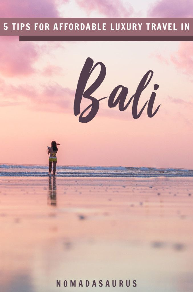 Bali is one of the best places to enjoy affordable luxury! Here's how to travel in style for under $720. #bali #luxurytravel