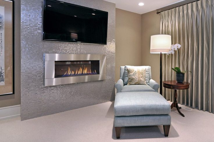 17 best ideas about glass tile fireplace on pinterest for Bedroom electric fireplace