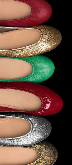 These festive styles add the perfect finishing touch to any holiday outfit! | Tieks Ballet Flats