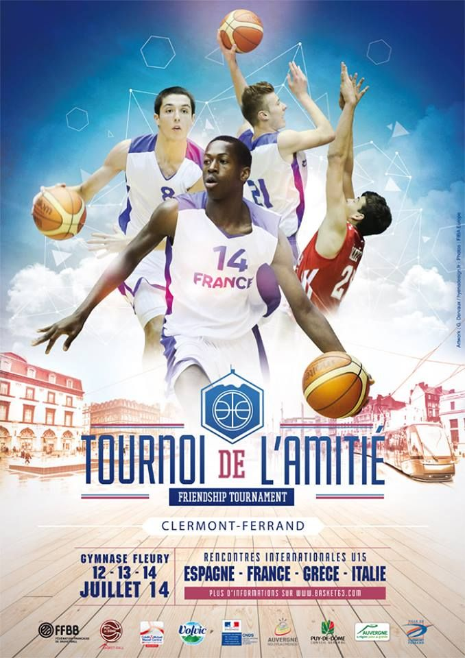 Affiche Tournoi de lamitié #france #basket #basketball #poster More