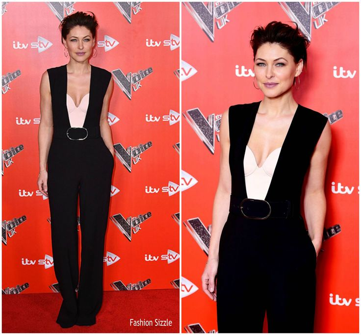 Emma Willis attended  The Voice UK 2018 Launch Photocall held at Ham Yard Hotel today (January 3) in London .  She wore a Stella McCartney 'Paola' jumpsuit from