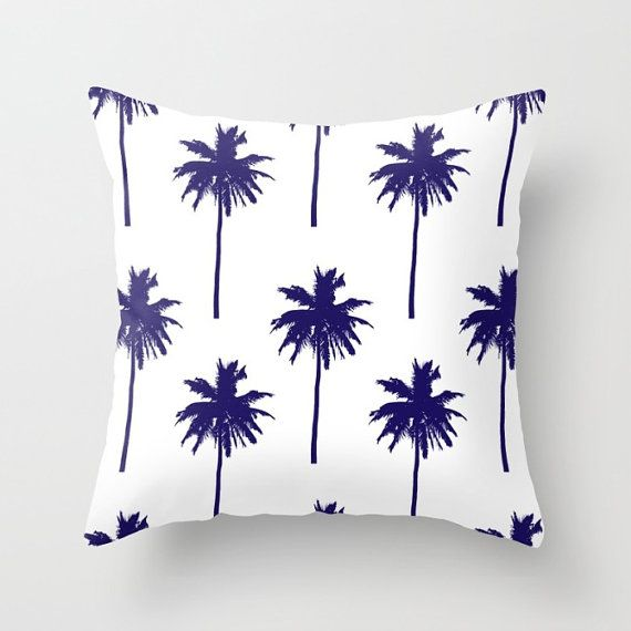 Palm Tree Pillow Cover. * Insert not included. Available in 16x16, 18x18 and 20x20 inches. Printed on both sizes and finished with a hidden zipper. *Faux down insert available for an additional cost. You can find it here: www.etsy.com/listing/228151617 ♥ For more Aldari Home throw pillows: AldariHome.etsy.com …………………………………………………. * Pillows are made to order and can take at least two weeks for delivery. *Made and shipped from USA. Duties may apply if shipped to other countries...