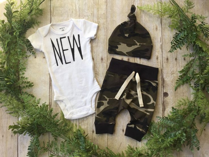 Newborn Boy Take Home Outfit / Newborn Boy Coming Home Outfit / Newborn Camo Outfit // Camo Clothing Set // Preemie Clothes Boy // Preemie by anUPdesign on Etsy https://www.etsy.com/listing/267258793/newborn-boy-take-home-outfit-newborn-boy