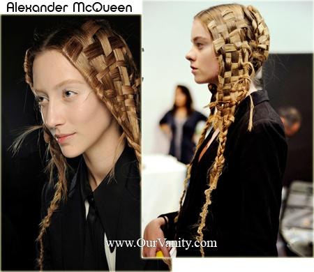 basket weave hair #McQueen
