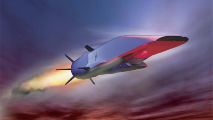 The X-51A Waverider was powered by a Pratt & Whitney Rocketdyne SJY61 scramjet engine and designed to ride on its own shockwave and accelerate to about Mach 6. The Air Force now wants to capitalize on that technology by funding the development of hypersonic cruise missiles. (U.S. Air Force graphic)