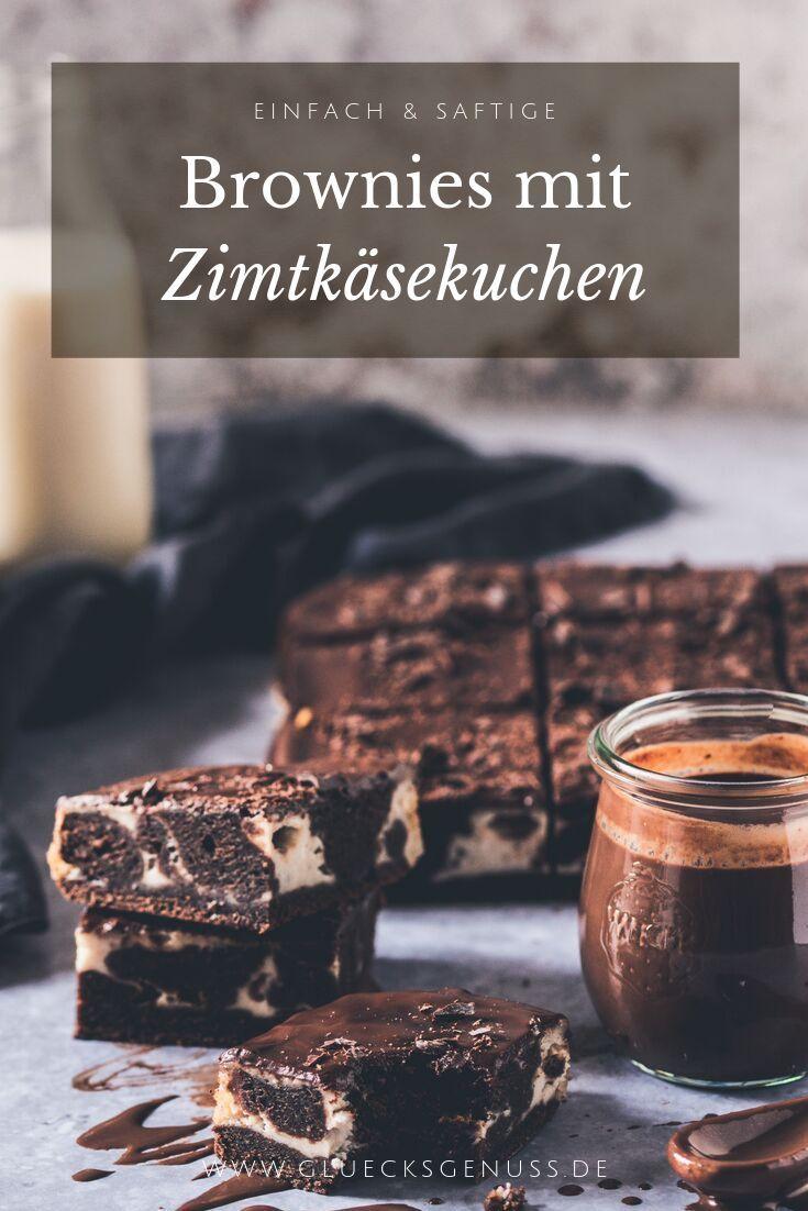 Zimtige Käsekuchen-Brownies  – ***Ich*Liebe*Foodblogs***