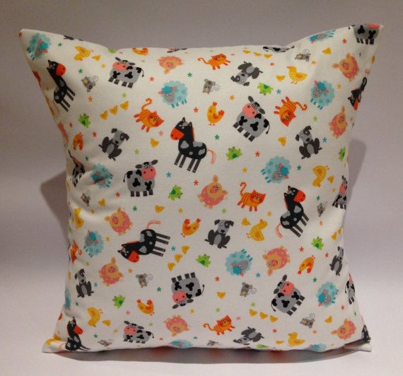 Farm animal cushion farm animal pillow kids farm by LoveTorHome