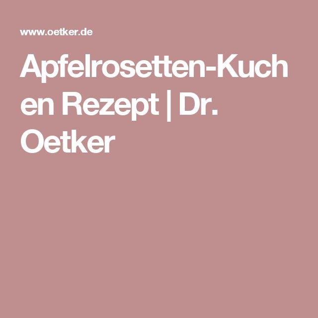 Apfelrosetten-Kuchen Rezept | Dr. Oetker