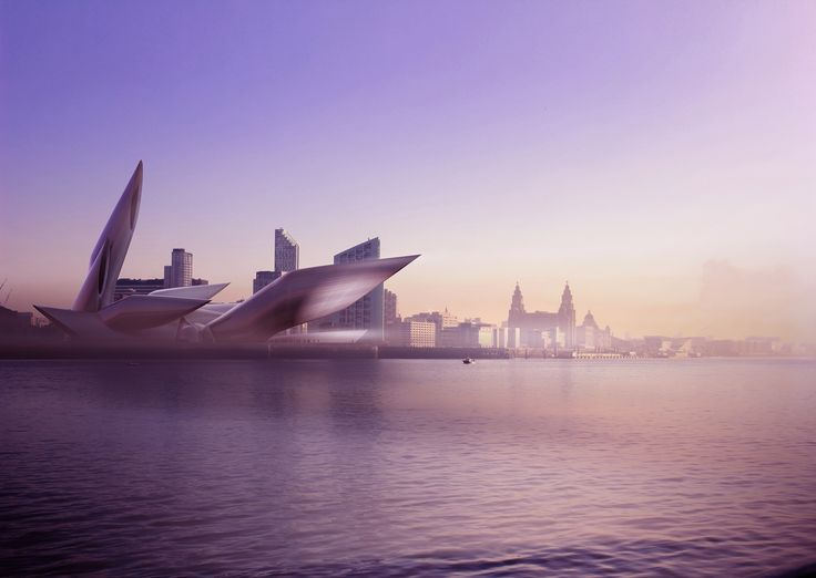 Conceptual 3D works from MMCD Studio visualising a new landmark cruise and ferry terminal for Liverpool, UK.