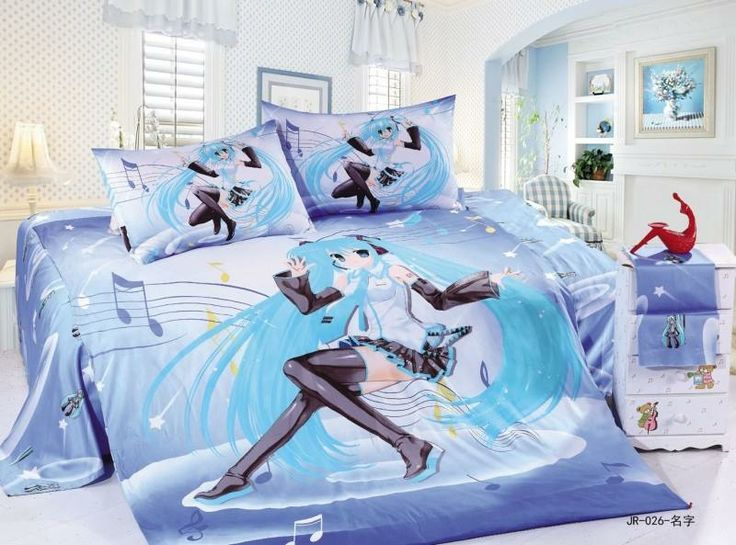 Hatsune Miku Bedspread!!!