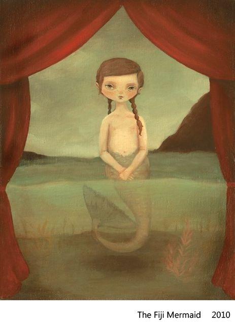 The Fiji Mermaid by The Black Apple (Emily Winfield Martin): Paintings Art, Black Apples, Apples Design, Apples Mermaids, Brunettes Mermaids, Inspiration Illustrations, Fiji Mermaids, Emily Winfield, So Sweet