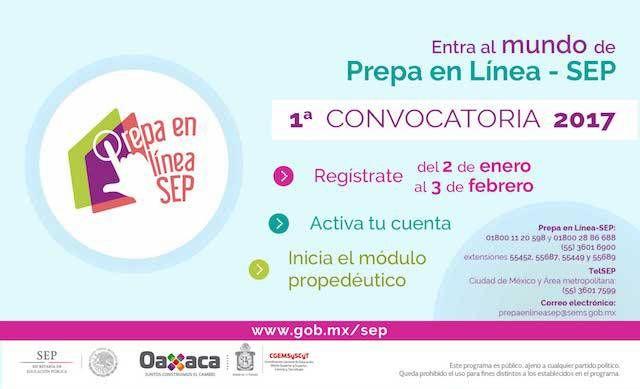Abren primera convocatoria 2017 de Prepa en Línea SEP