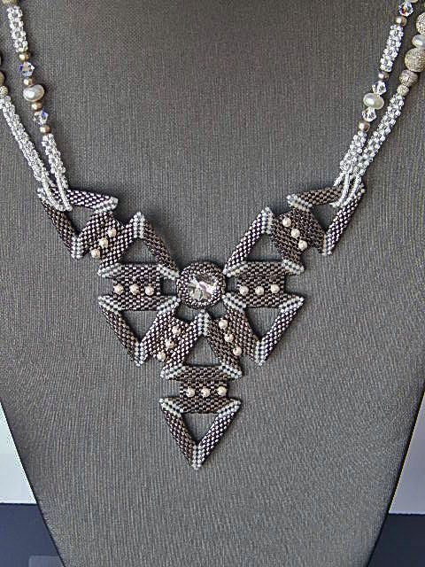 Classic Black And White Necklace by Ravit on Etsy