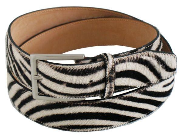 Little horse leather men's belt PECAAU64