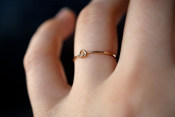 Tiny Ultra Thin Knot ring in 14kt gold filled by hannahnaomi