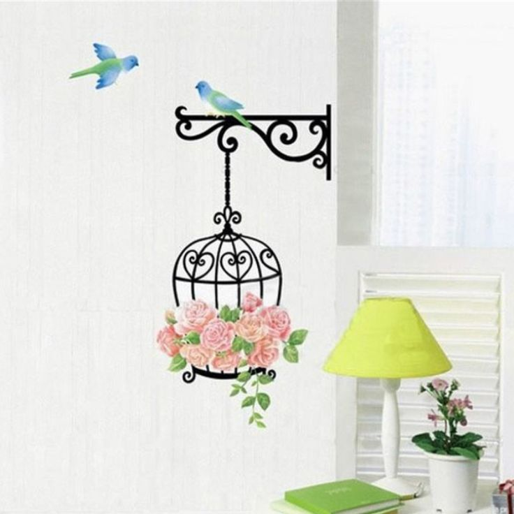 Birds and Flowers Wall Sticker //Price: $6.99 & FREE Shipping //     #stickers