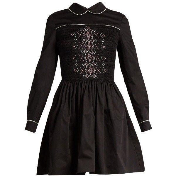 dc47e708701 Miu Miu Smocked-front cotton mini dress ( 2