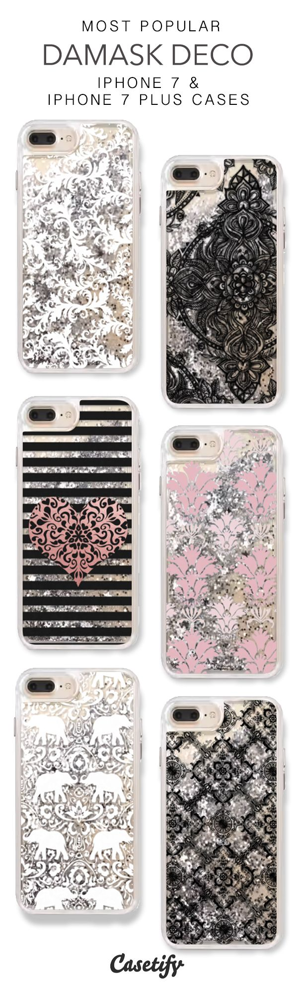 Most Popular Damask Deco iPhone 7 Cases & iPhone 7 Plus Cases. More protective liquid glitter iPhone case here > https://www.casetify.com/en_US/collections/iphone-7-glitter-cases#/?vc=WLUneAJnsS