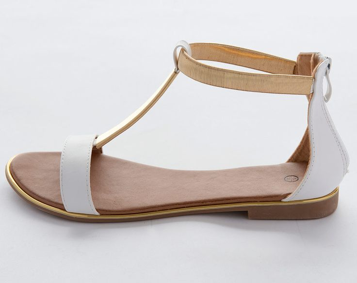 Gladiator Sandal £17.00 The ultimate comfort shoes perfect for walking. Slip on style shoe with cushioning for comfort and a durable sole. Lightweight and flexible. Gold-coloured trim around the sole with a zip fastening to the back. Upper, lining and sole: other materials.