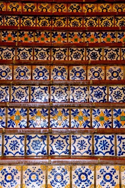 Spanish Tile Stairs Inspiration Pinterest
