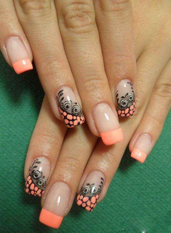 Diseño de uñas, un tipo de manicura francés