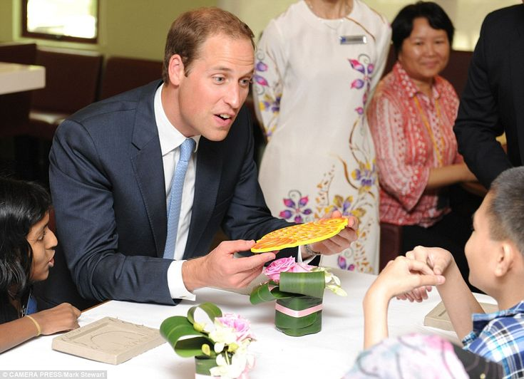 Prince William chats to a young patient at the hospice in Malaysia: Prince Williams, Smile Face, Australian British Royals, Birthday Cards, Williams Chat, Royals Families