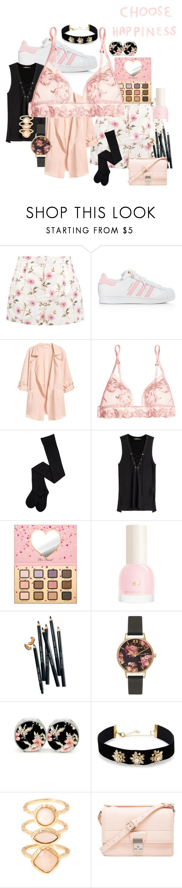 """The Prettiest Underpinnings #3"" by pantherinae ❤ liked on Polyvore featuring RED Valentino, adidas, Jakke, La Perla, Roberto Cavalli, Too Faced Cosmetics, H&M, Bobbi Brown Cosmetics, Olivia Burton and Lydell NYC"