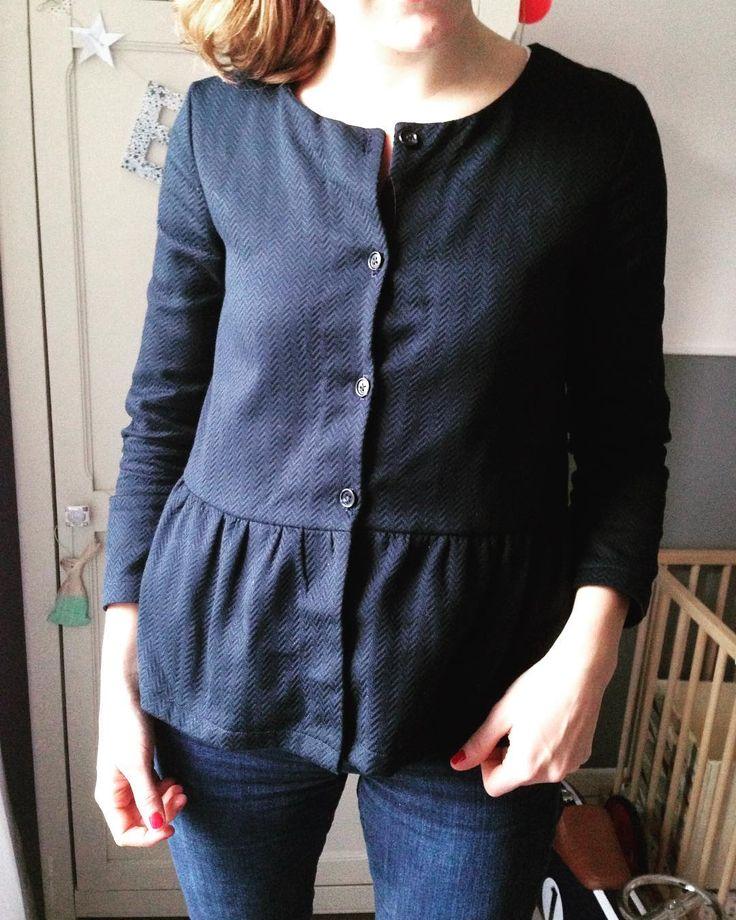 Ma petite veste gilet imitation Marius de Balzac Paris. Patron : gilet monceau…Inspo for shirt refashion.