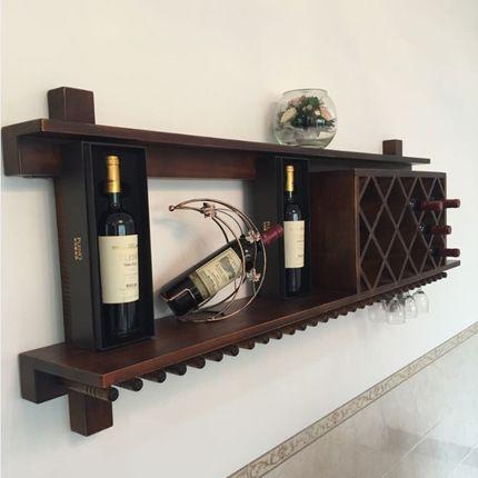 Висит деревянный винный шкаф висит шкаф вина вино кадров творческий европейский мода решетки висит бар купить на AliExpress