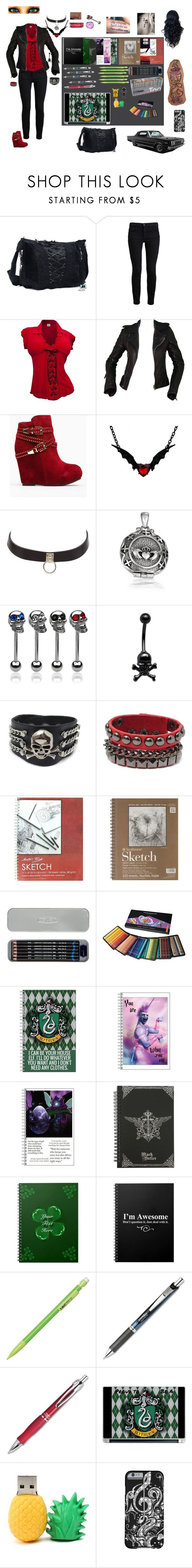 """""""Belinda Swan (Twilight Fic OC) Emmett Cullen's Mate"""" by evil-unicorn90 ❤ liked on Polyvore featuring Belvedere, CO, Proenza Schouler, Balenciaga, Charlotte Russe, Bling Jewelry, Universal, Hot Topic, Meco and Music Notes"""
