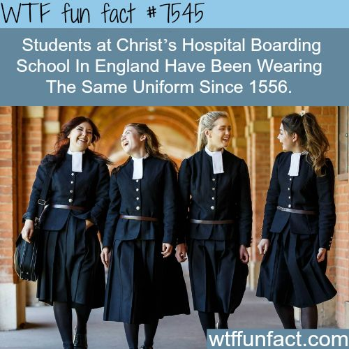 This school had the same uniform for 500 years - WTF fun facts. I think the uniforms are actually kind of pretty.