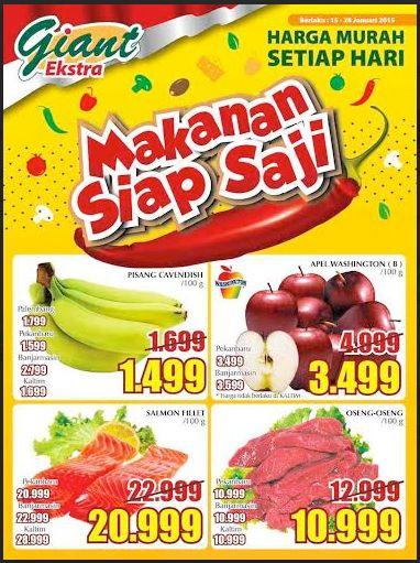 Harga Spesial Untuk Makanan Siap Saji di Giant 15-28 Januari 2015