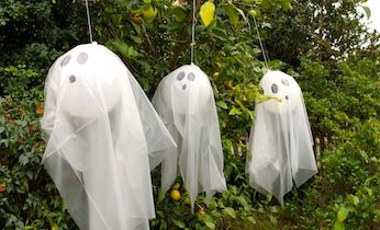 Decorate your house for Halloween this year with some spooky balloon ghosts. An easy Halloween craft that will also make your house look spooky.