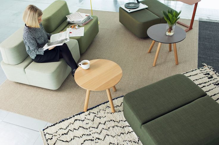 Sofá modular / de diseño minimalista / de interior / de tela - MOVIE by Rane Vaskivuori - Martela