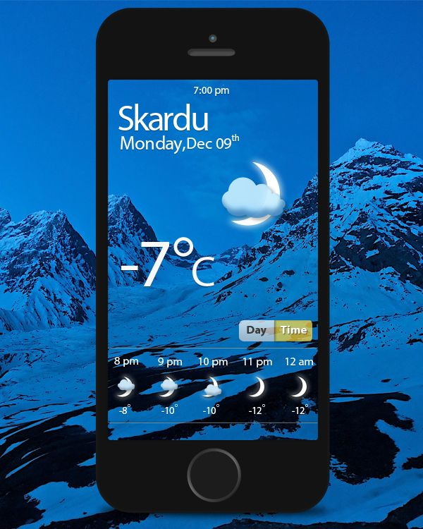 Weather App by Mohammad Sher Afgan, via Behance