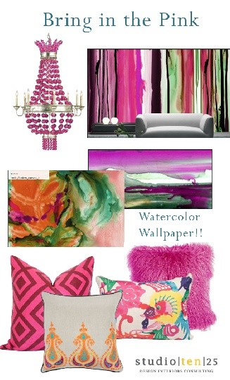 Pink: Nice Vignettes, Interiors Design, Watercolor Paper, Studios Ten