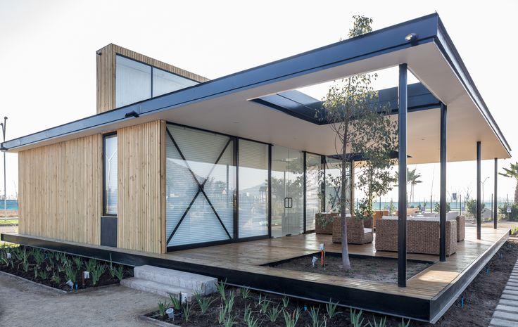 Sala de ventas Laguna Condores, San Bernardo, Chile - Fones Arquitectos - © Antonio Aros Dominguez