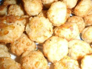 Cheesy chicken balls up close!