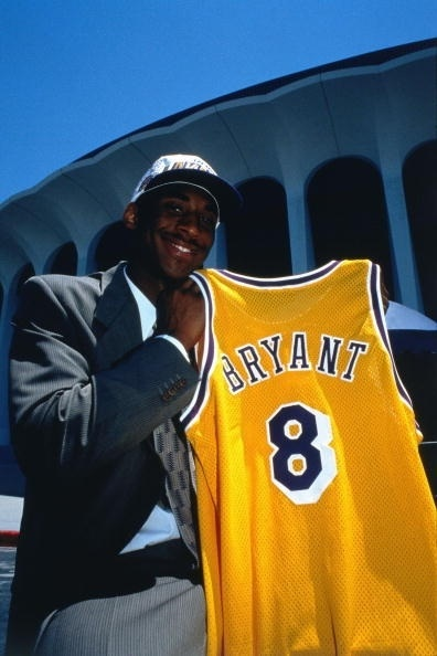 A young Kobe Bryant