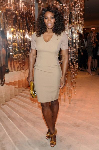 Serena Williams at the launch of Burberry Body in Hollywood.