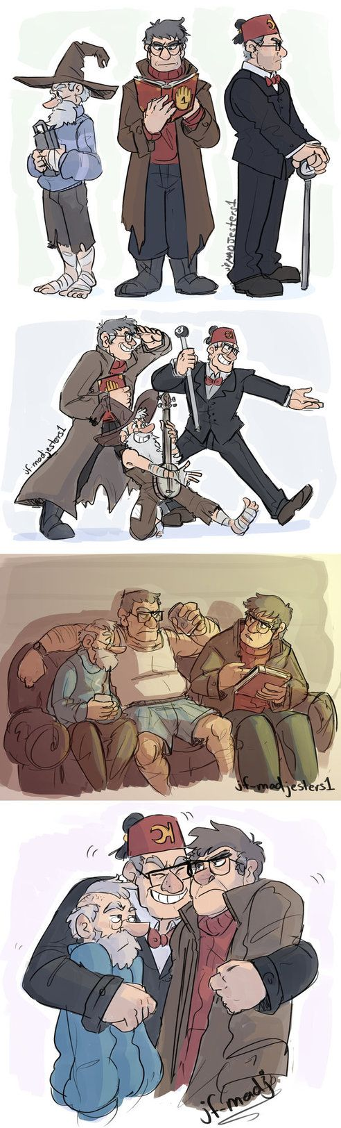 Gravity Falls Mystery Trio by MadJesters1 on DeviantArt