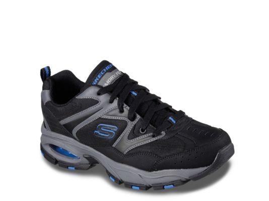 Men's Men Skechers Vigor Air 2.0 Sneaker -Grey/Black/Blue - Grey/Black/Blue