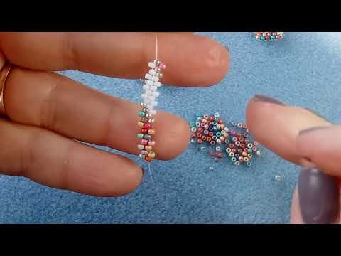Peyote with a twist - not crochet (Peytwist) zip connection #3 peyote start - YouTube