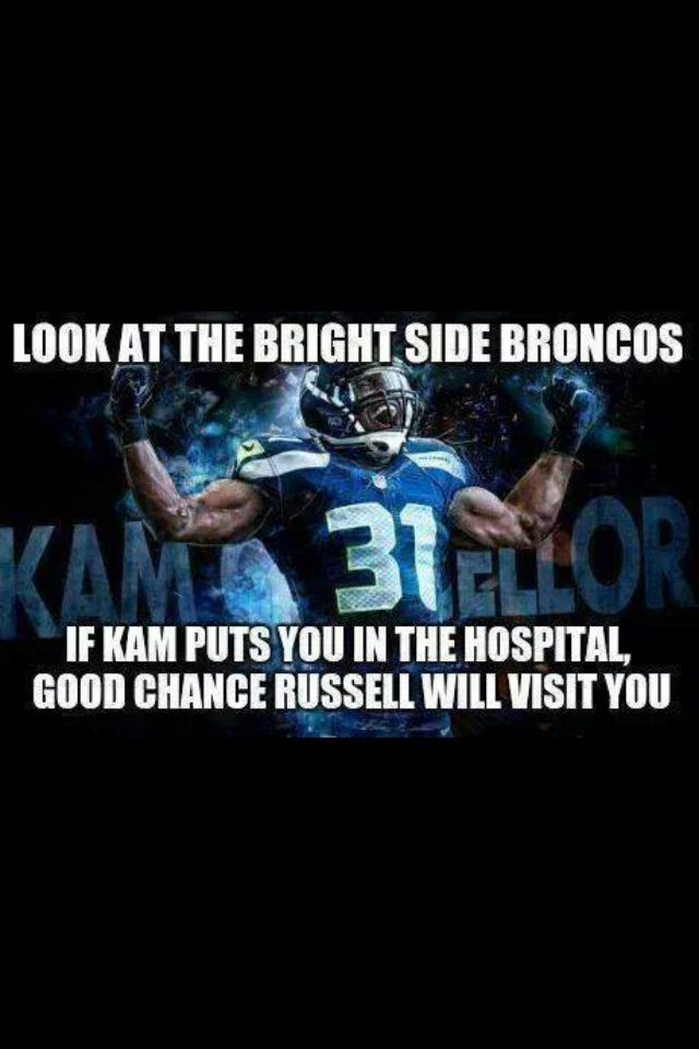 Bam Bam Kam Chancellor and good guy Russell Wilson! I love this! Go Seahawks!