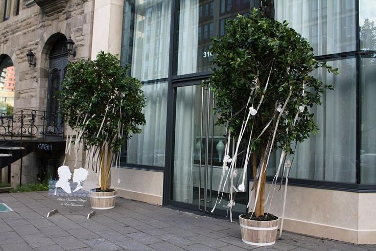 5Ssens - Décorations à l'extérieur.  Outdoors decorations   #urbanwedding
