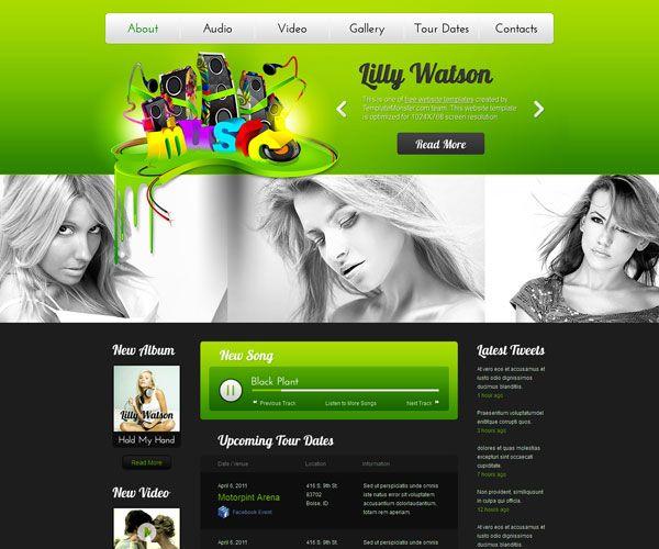 Lilly Watson Website Template