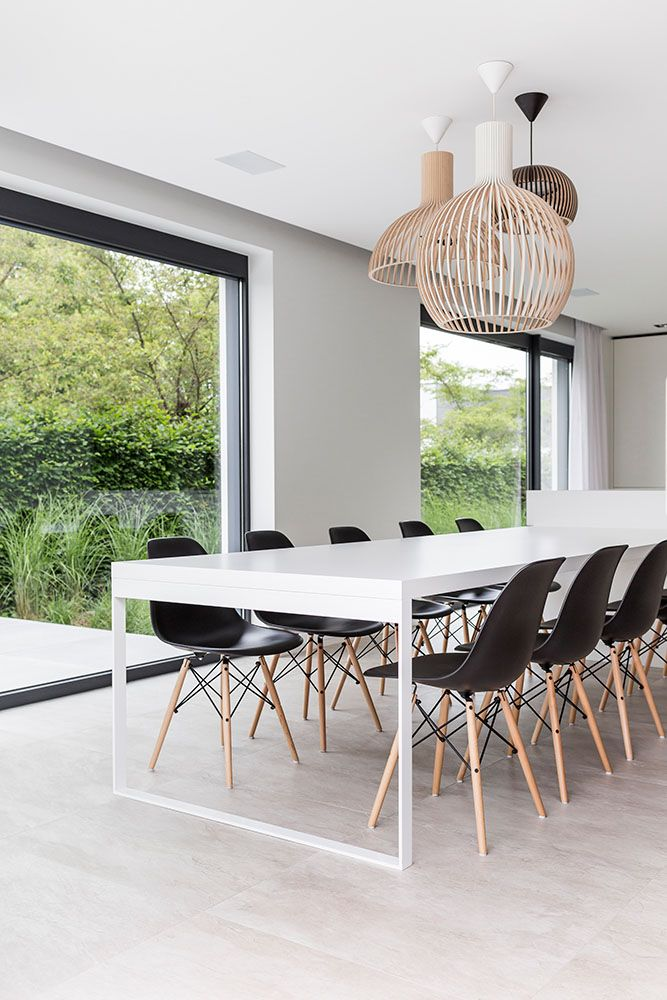 chairs - table - white - black - chandelier - wood - windows - shoot - product - photographer - photography - LUXHOME - Valerie Clarysse  Beeldpunt