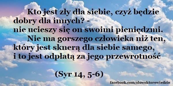 Słowo, które wiedzie: Syr 14,5-6