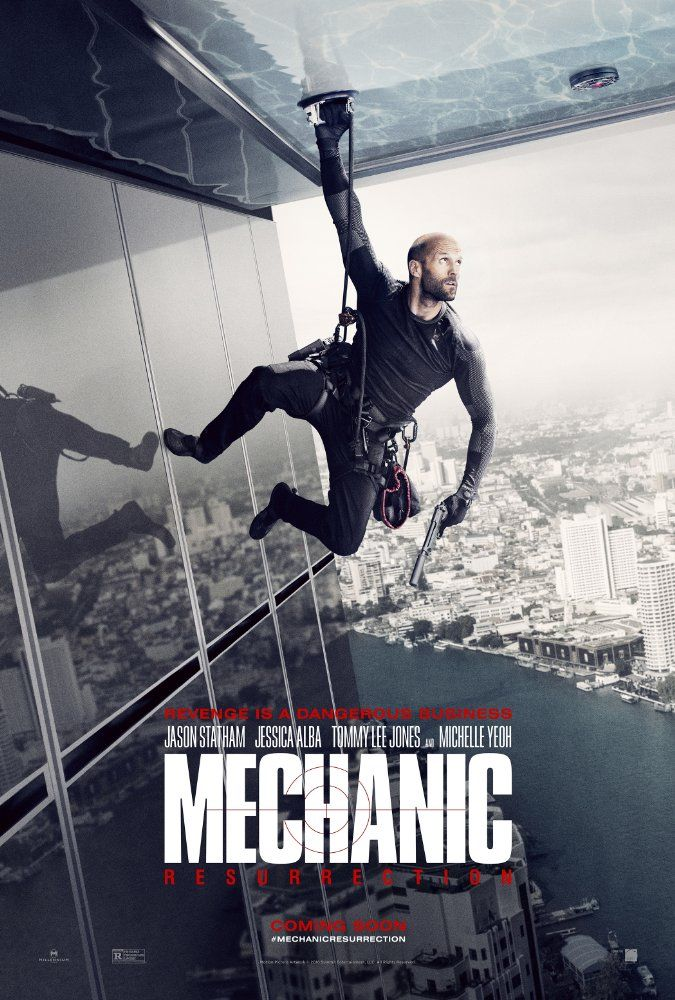 Starring Jason Statham, Jessica Alba, Tommy Lee Jones | Arthur Bishop thought he had put his murderous past behind him when his most formidable foe kidnaps the love of his life. Now he is forced to travel the globe to complete three impossible assassinations, and do what he does best, make them look like accidents.